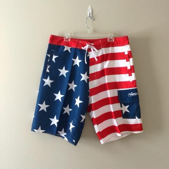 a640fde4e79e World Calhoun Swim | Nwt American Flag Usa Trunks Xxl | Poshmark
